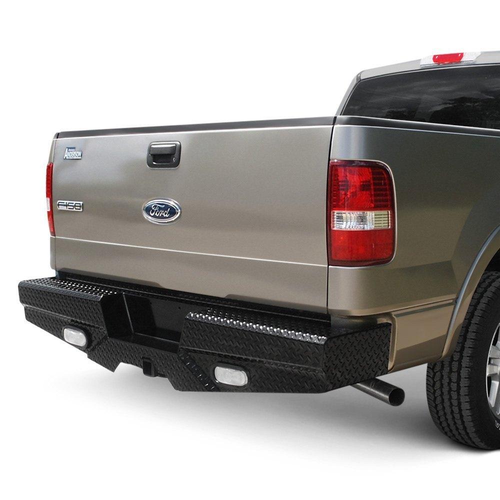 hight resolution of frontier truck gear diamond series full width rear hd black bumper