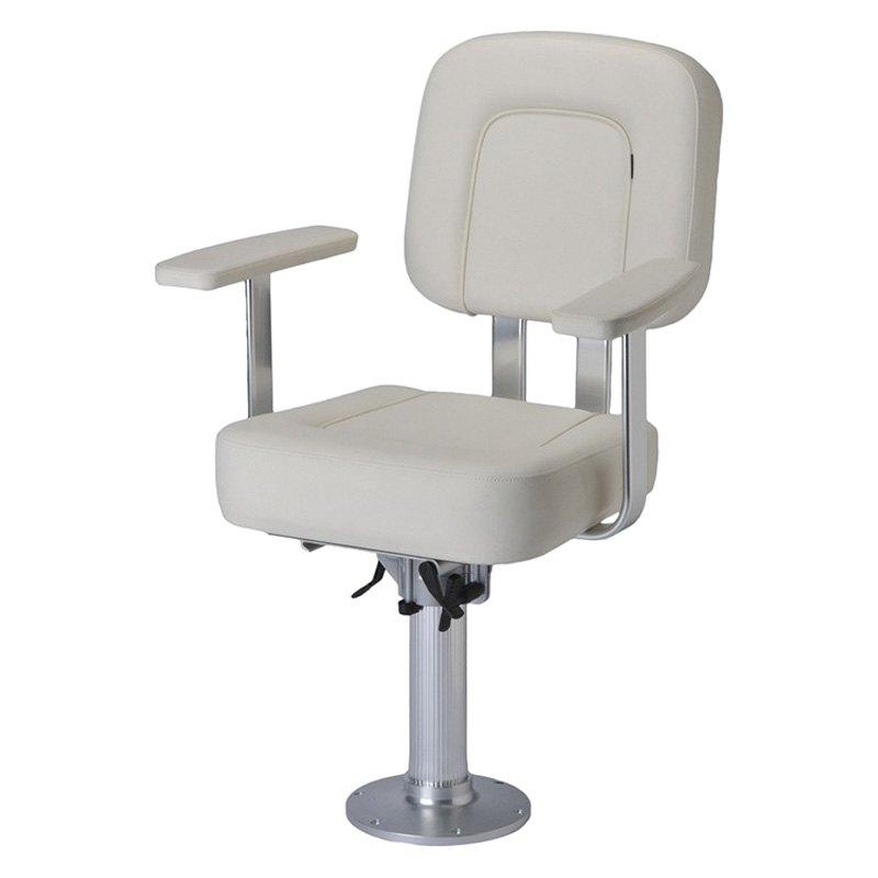 Garelick 4898001  White Offshore Helm Chair  BOATiDcom