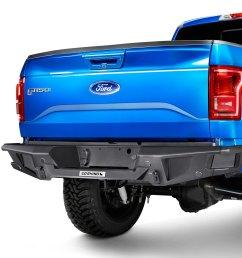 go rhino br20 replacement full width rear hd black bumper [ 1500 x 1500 Pixel ]