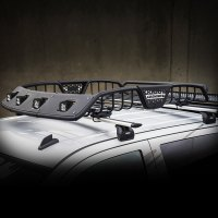"Go Rhino 5921147T - 60"" SR40 Series Roof Rack with 3"" LED ..."