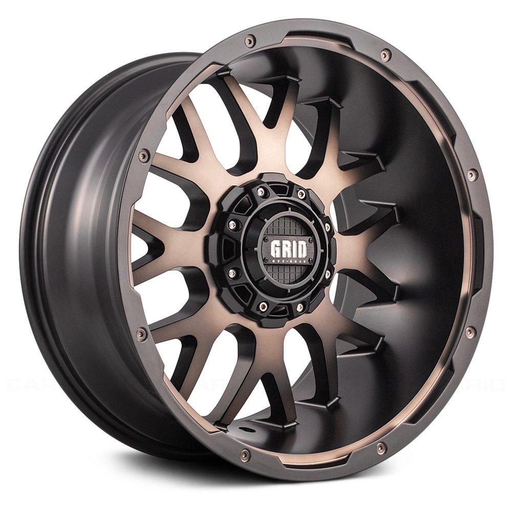 GRID OFFROAD GD2 Wheels  Matte Black with Bronze Face Rims