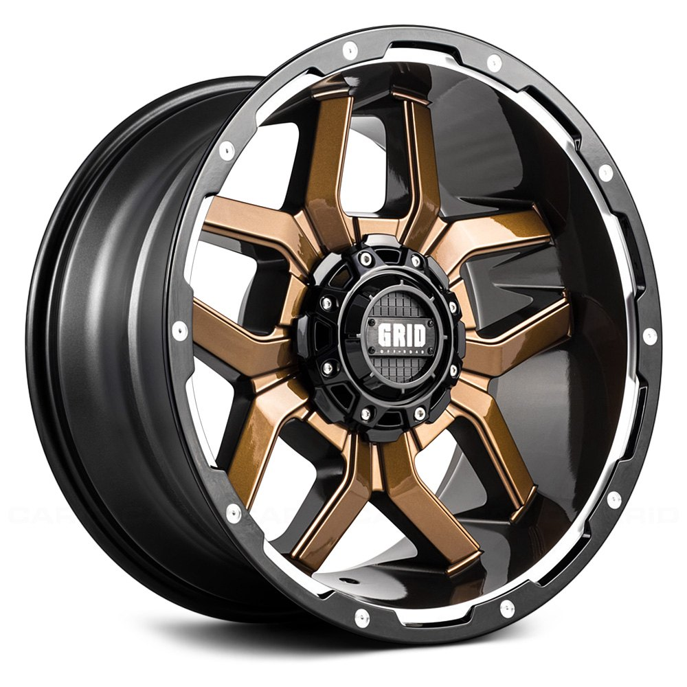 GRID OFFROAD GD7 Wheels  Gloss Bronze with Black Lip Rims