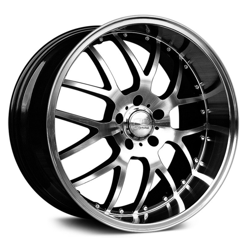 HD MSR Wheels  Gloss Black with Machined Face and Lip Rims
