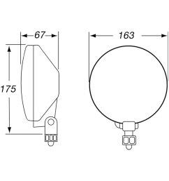lightshella 500 series sae ece 6 4 2x55w round fog beam  [ 1000 x 1000 Pixel ]