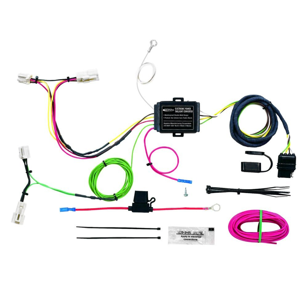 hight resolution of towing wiring harness with 4 flat
