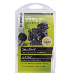 multi tow 7 rv blade and 4 wire flat towing wiring kit [ 1000 x 1000 Pixel ]
