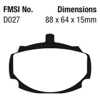 For MG MGB 1962-1981 EBC DP3107C Redstuff Ceramic Low Dust