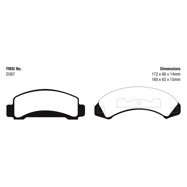 For Ford Ranger 1987-1994 EBC UD387 Ultimax Replacement