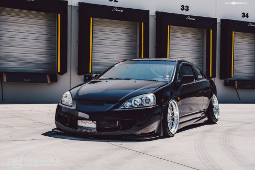 small resolution of carbon fiber bumper lips on black acura rsx photo by avant garde wheels