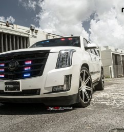 custom front bumper on white cadillac escalade photo by vellano [ 2000 x 1333 Pixel ]