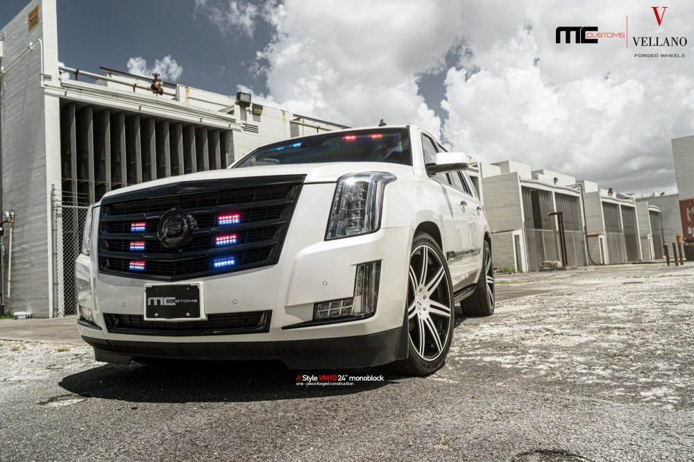 medium resolution of custom front bumper on white cadillac escalade photo by vellano