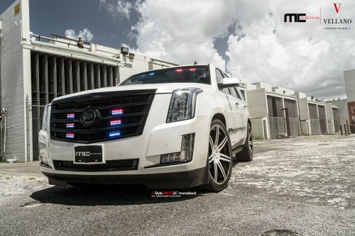 small resolution of custom front bumper on white cadillac escalade photo by vellano