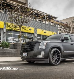cadillac escalade esv lowered on adv 1 custom wheels [ 1960 x 1103 Pixel ]