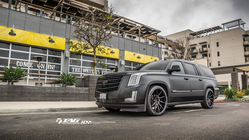 medium resolution of cadillac escalade esv lowered on adv 1 custom wheels