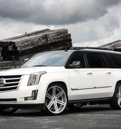 top white escalade photo by exclusive motoring [ 2048 x 1335 Pixel ]