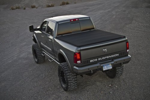 small resolution of lifted dodge ram with a roll up tonneau cover photo by bds suspensions
