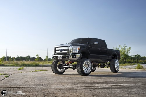 small resolution of black ford f 250 with 12 inch lift kit photo by fuel offroad