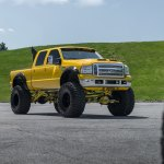 Insane Monster Truck Yellow Ford F 250 Super Duty On Huge Wheels Carid Com Gallery
