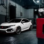 White Honda Civic On Vossen Wheels With Red Calipers Customized For A Racer Look Carid Com Gallery