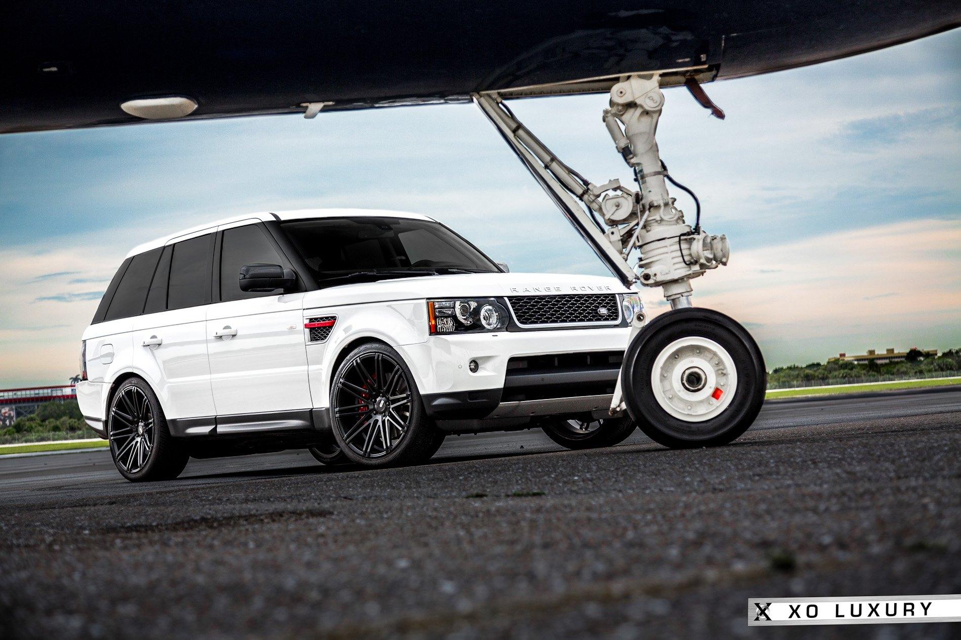 Milan Matte Black Rims By XO Luxury White Range Rover Sport