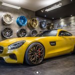 Yellow Mercedes Amg Gt Rocking A Set Of Forged Vossen Wheels Carid Com Gallery