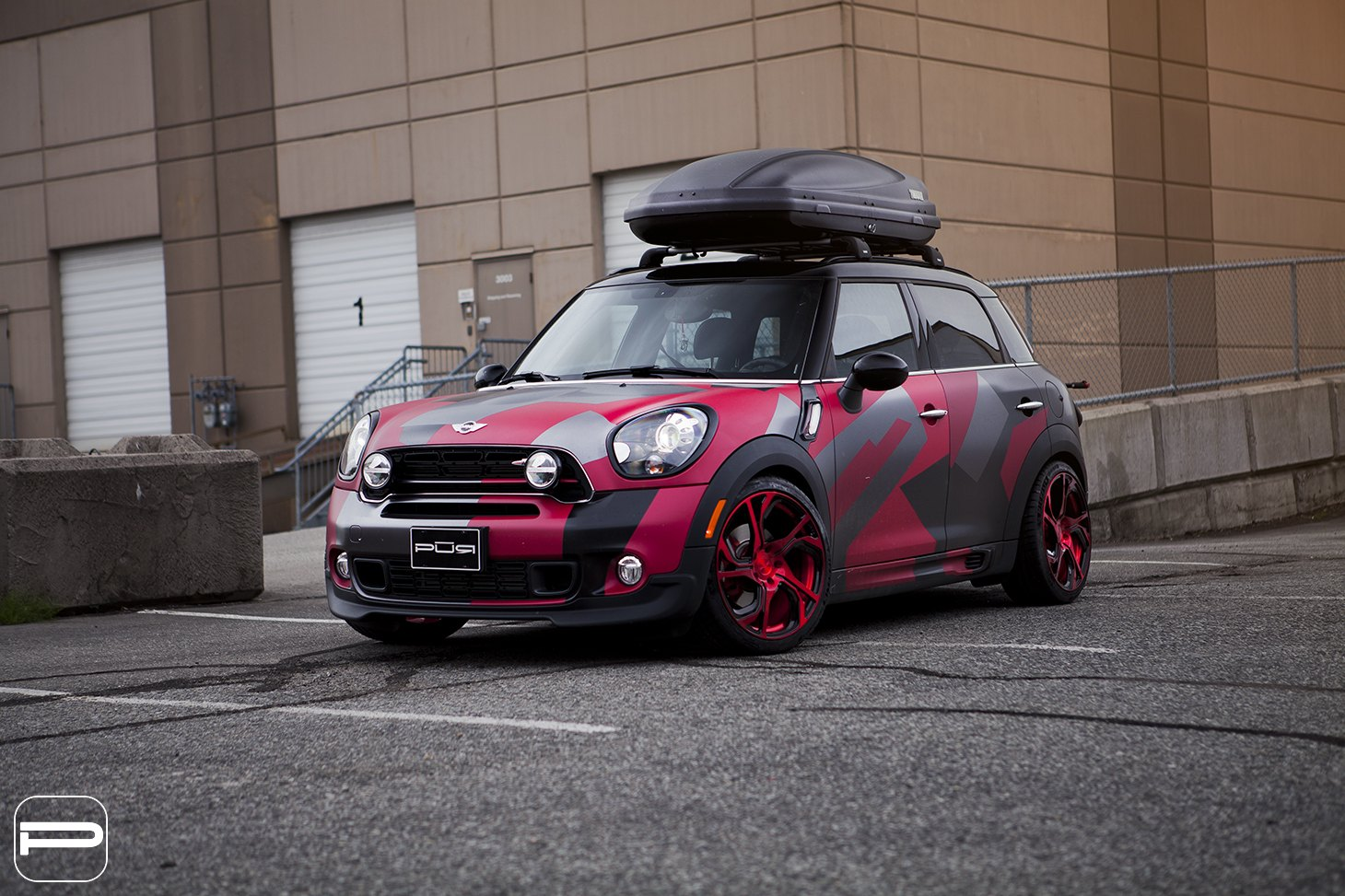 Truly Unique Custom Paint on Mini Countryman with Roof