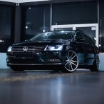 Revised Face Of Black Vw Passat With Chrome Billet Grille Carid Com Gallery