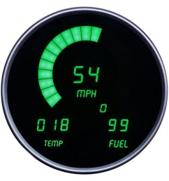 intellitronix direct fit led digital gauge panel green [ 1000 x 1000 Pixel ]