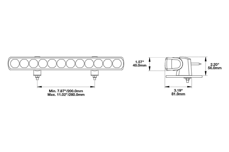 hight resolution of  speaker 14 60w high beam led light bar light beam