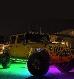 kc hilites c series bluetooth multicolor led rock light kit [ 1000 x 1000 Pixel ]