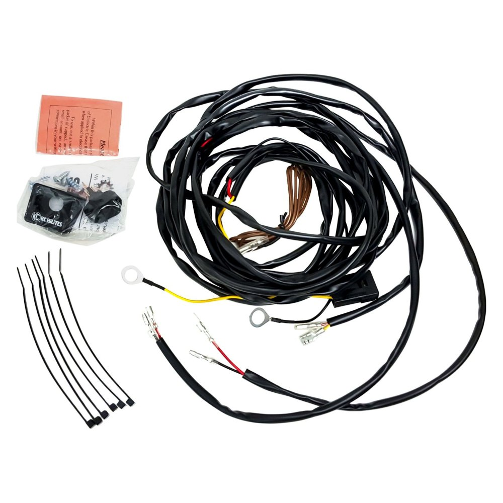 medium resolution of kc hilites 63082 wiring harness for two cyclone led lights kc daylighter wiring harness kc wiring harness
