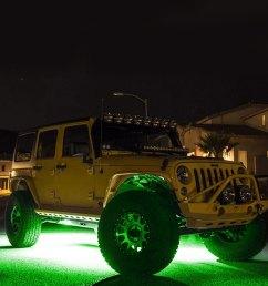 kc hilites cyclone series green led rock light kit [ 1000 x 1000 Pixel ]