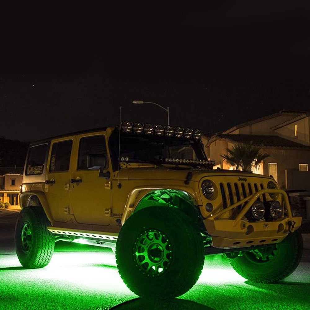 hight resolution of kc hilites cyclone series green led rock light kit
