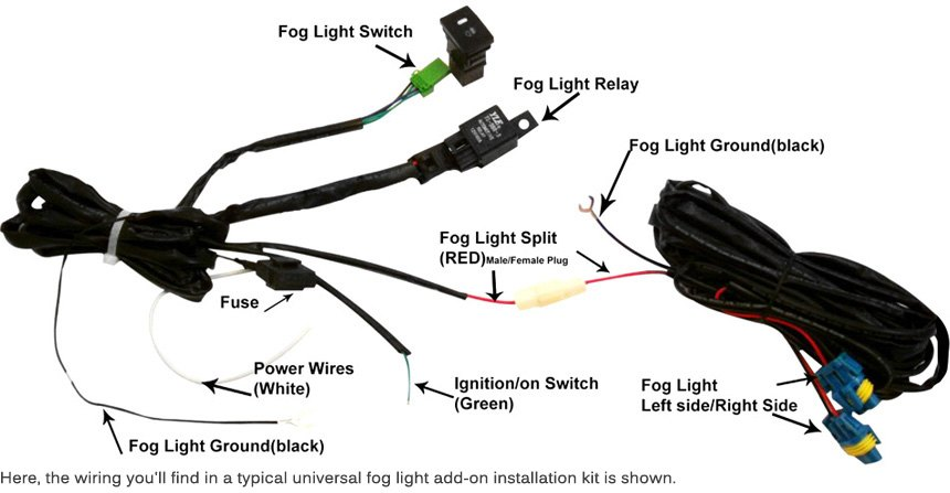 can light wiring diagram vw beetle coil lumen fog lights installation and adjustment installing for your new