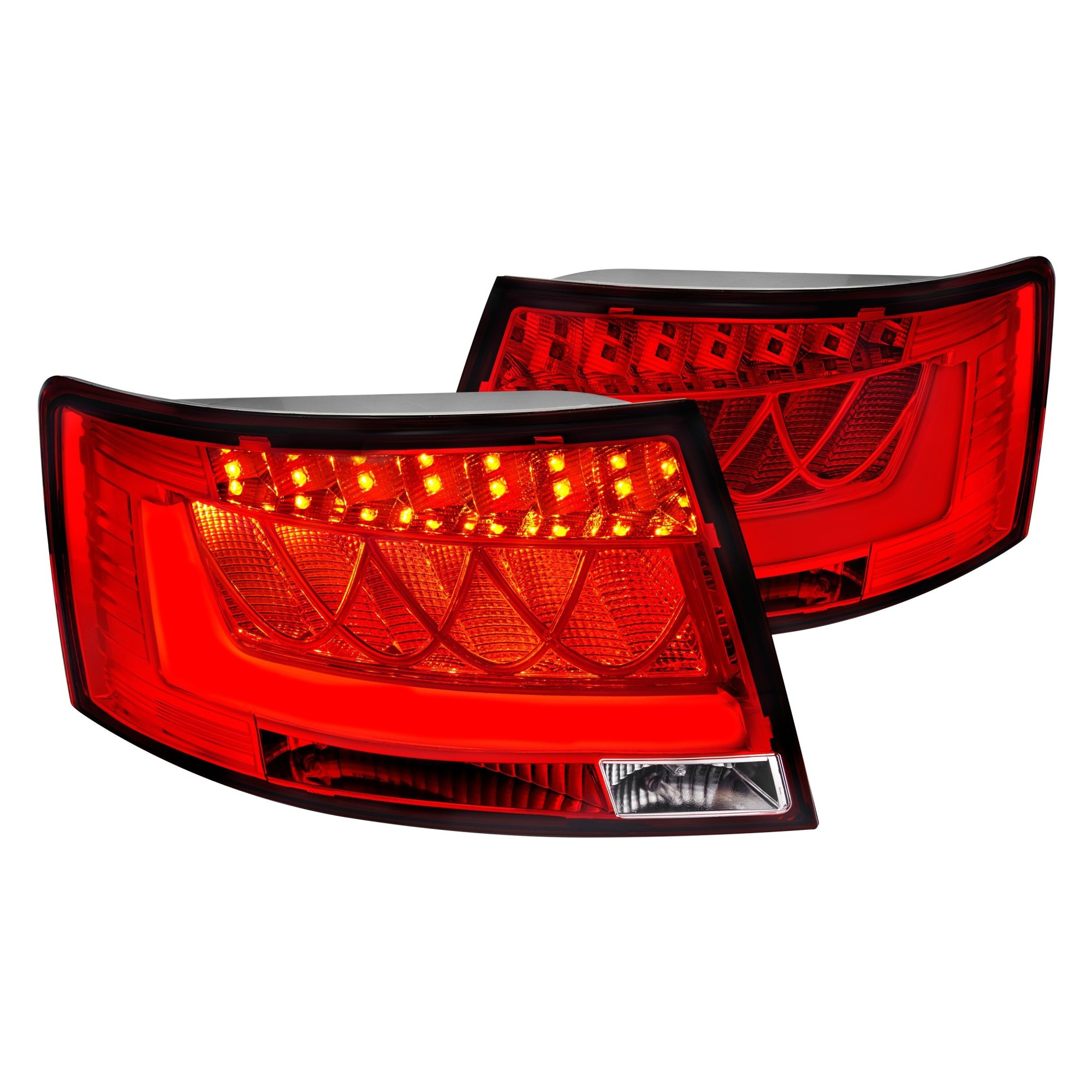hight resolution of lumen chrome red fiber optic led tail lights