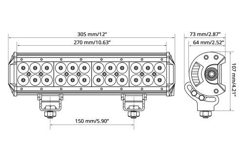 small resolution of  wiring harnesslumen 12 72w dual row combo beam led light bar scheme