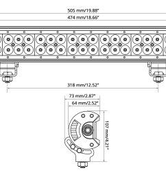 50 324w dual row combo beam led light bar wire [ 3000 x 2000 Pixel ]