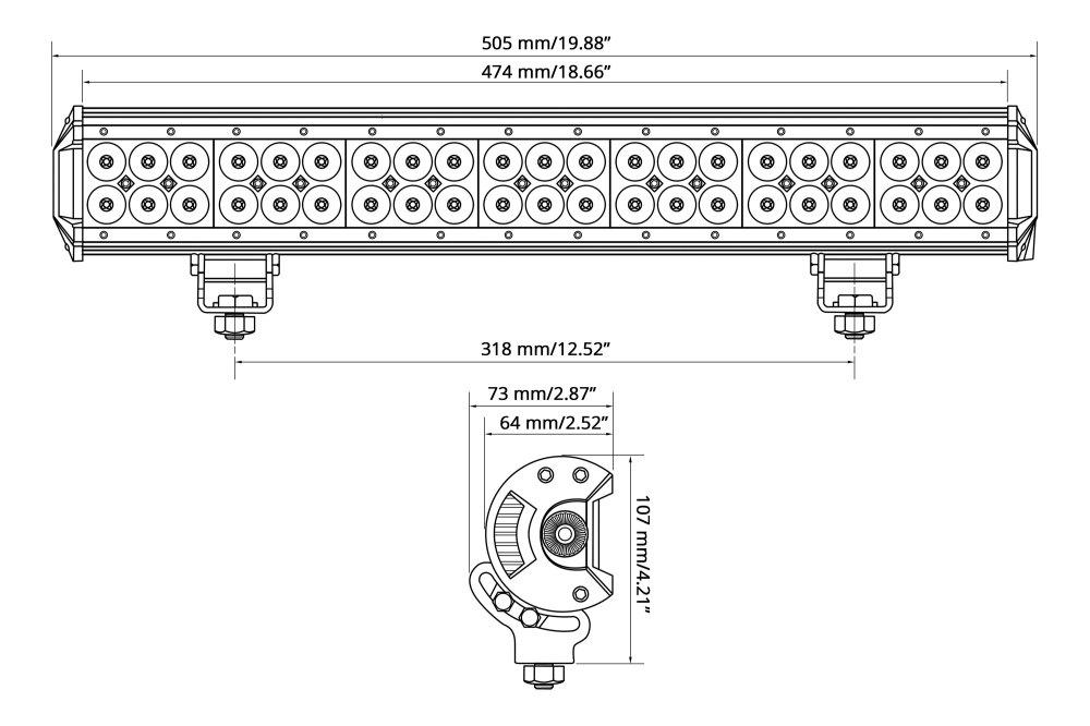 medium resolution of  50 324w dual row combo beam led light bar wire