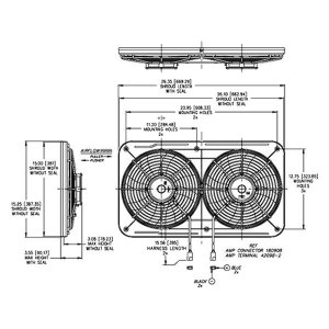 For Chevy Avalanche 1500 06 Dual Electric Fan Jetstreme II
