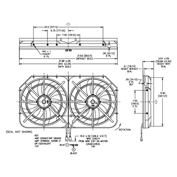 Derale Electric Fan Wiring Diagrams Fuel Gauge Diagram
