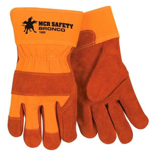 Mcr Safety - Bronco Leather Palm Gloves