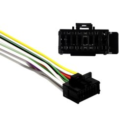 metra 16 pin wiring harness with aftermarket stereo plugs for pioneer [ 1000 x 1000 Pixel ]