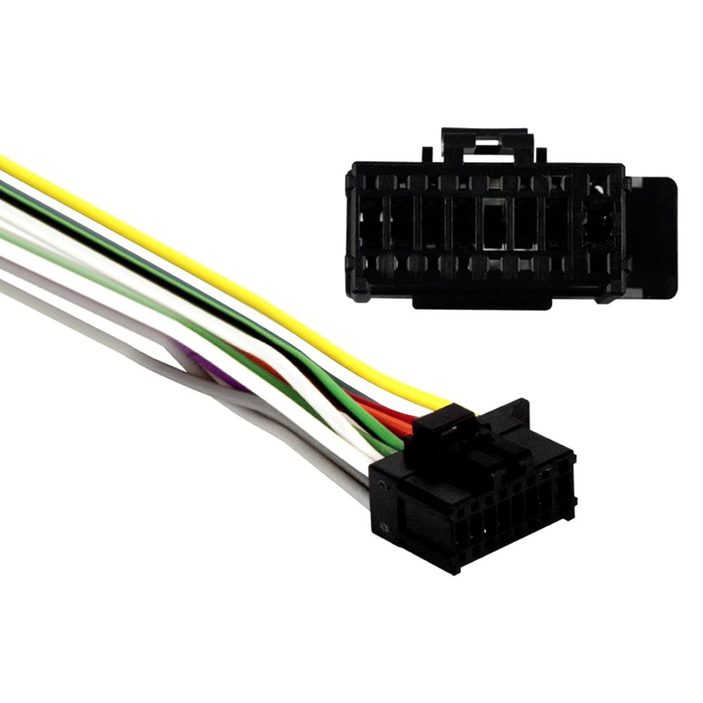 hight resolution of metra 16 pin wiring harness with aftermarket stereo plugs for pioneer