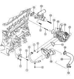 mopar engine coolant thermostat gasket [ 1000 x 1000 Pixel ]