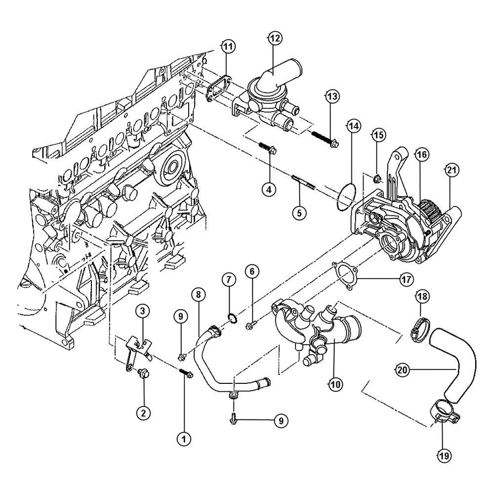 medium resolution of mopar engine coolant thermostat gasket