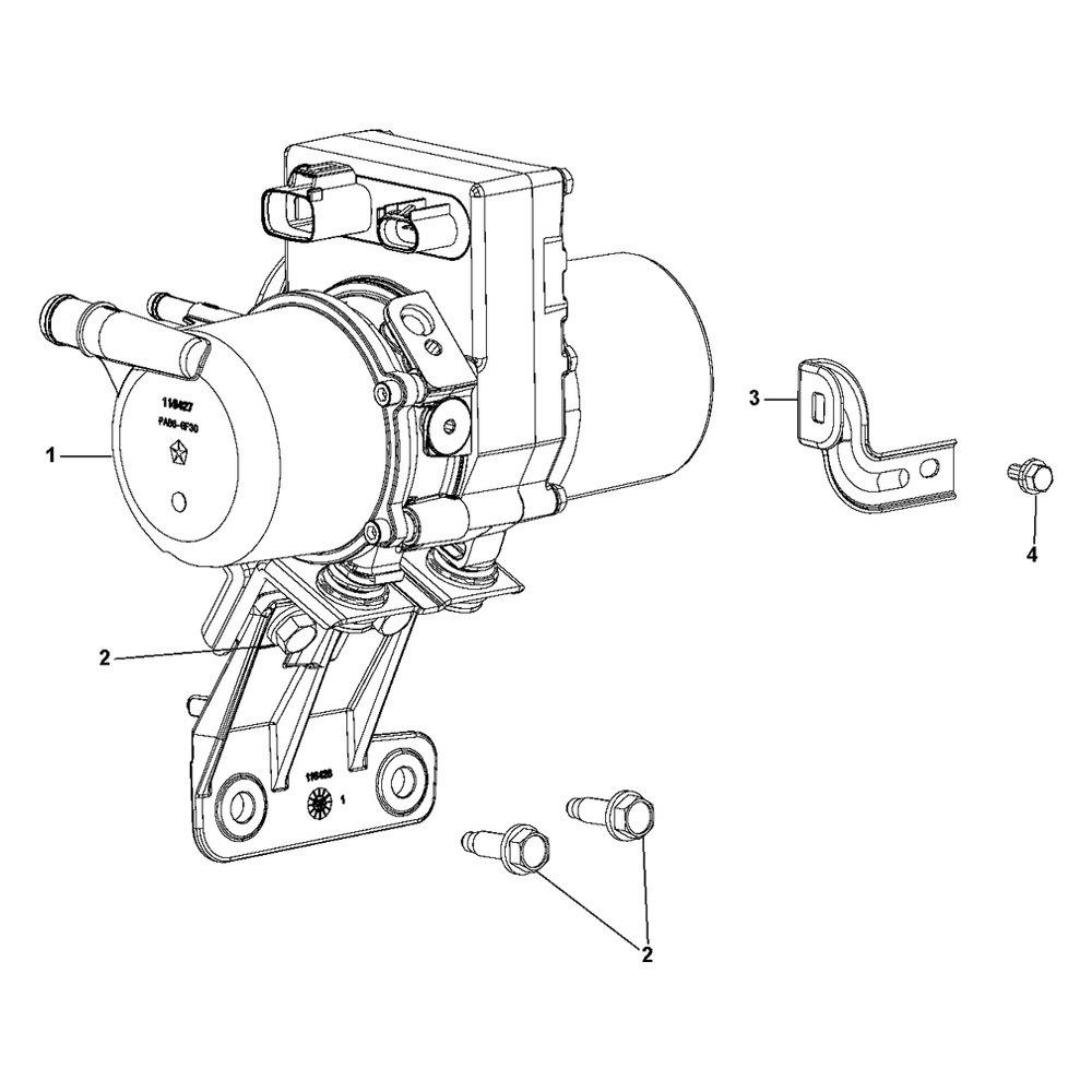 medium resolution of mopar power steering pump