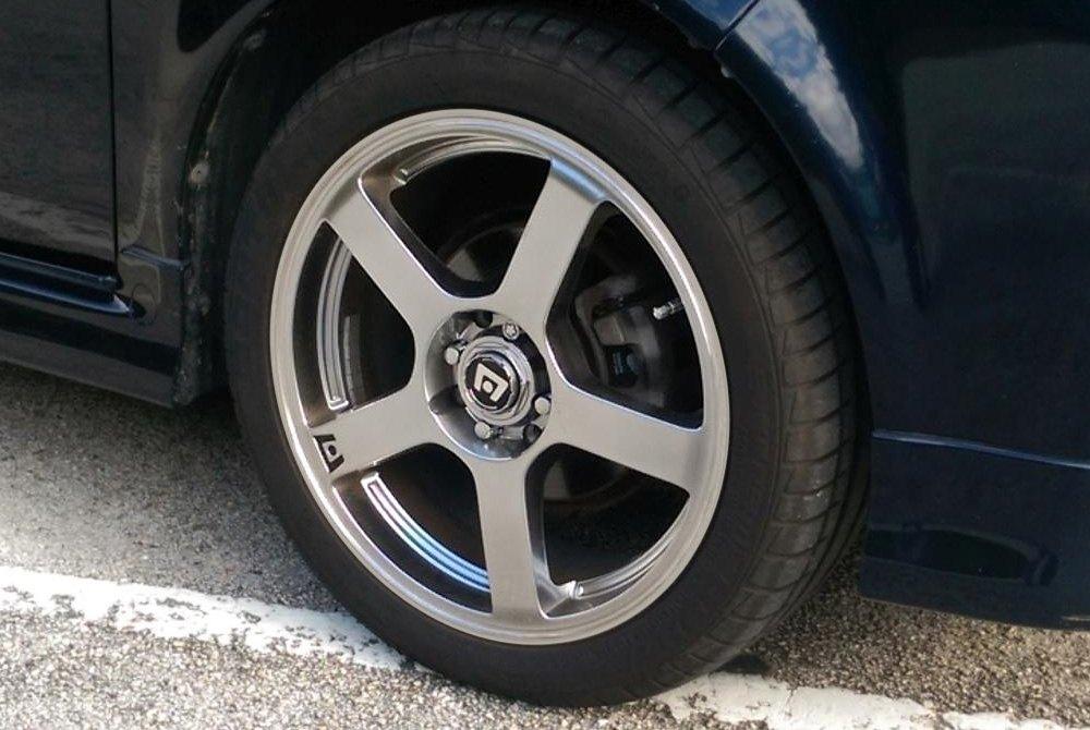 MOTEGI RACING MR116 Wheels  Silver with Machined Stripe Rims