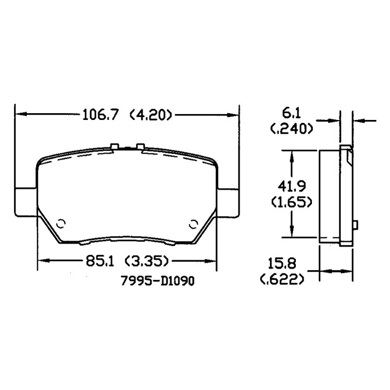 For Acura RL 05-12 Omniparts 13050882 Rear Disk Brake Pad