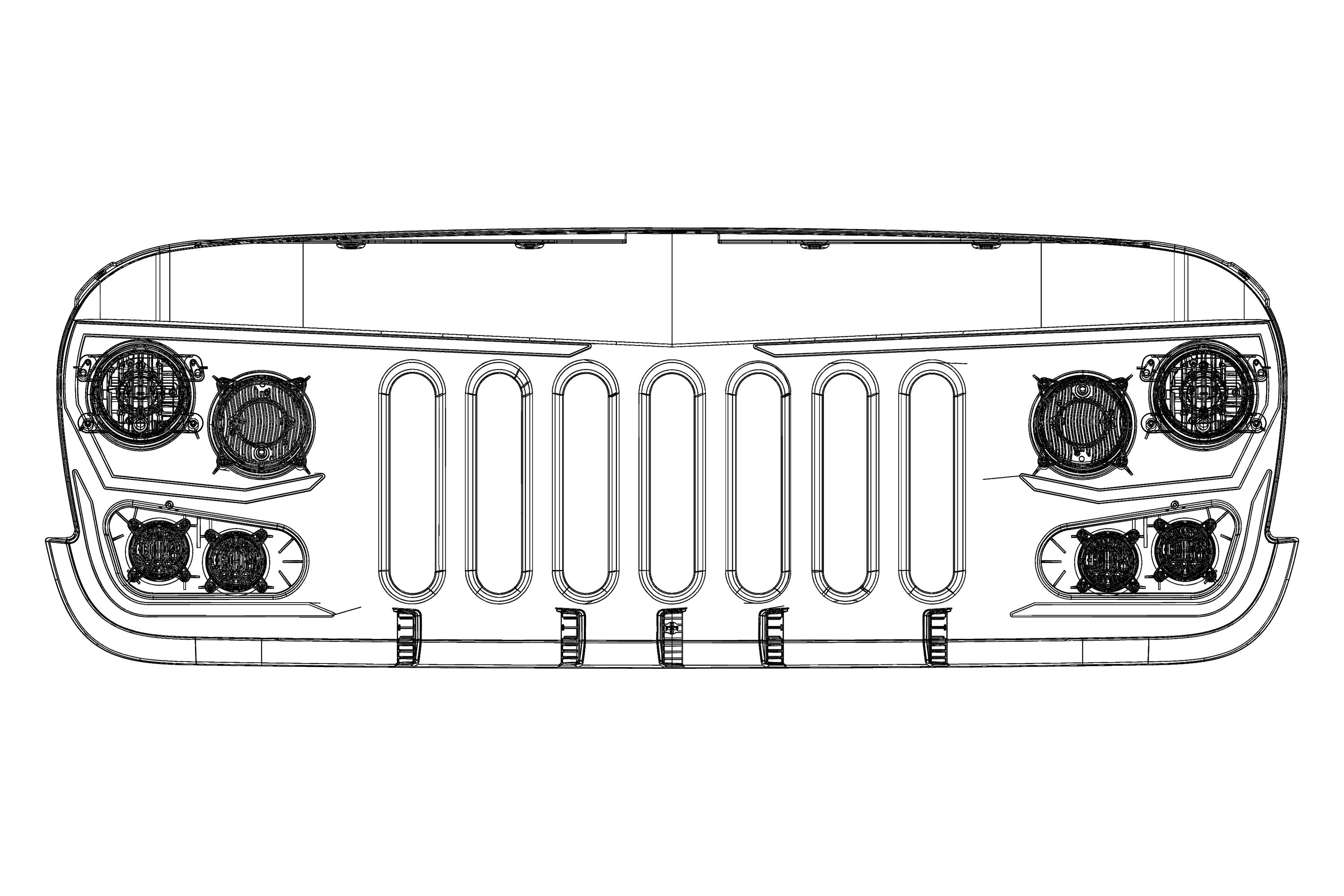 15 Best New Jeep Grill Drawing