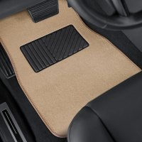 OxGord - DELUXE Heavy Duty Carpeted Floor Mats with Heel Pad